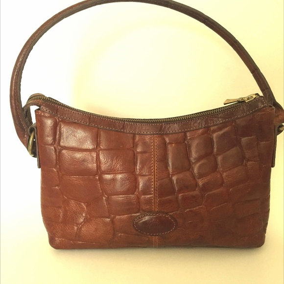 MULBERRY Brown Leather Vintage Crocodile Purse Bag.  M 5b3e4f740cb5aa2dd3e2701f a62bfc85fafe7
